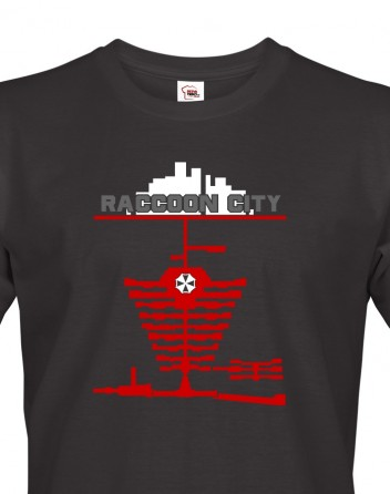 Pánské tričko Racoon city