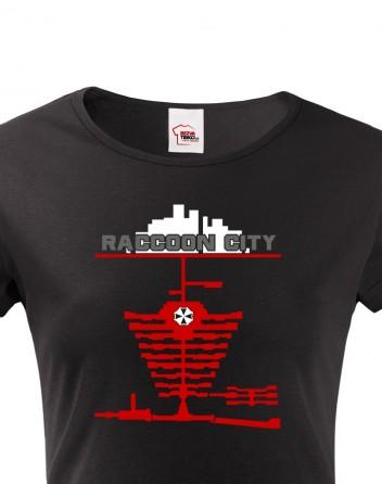 Dámské tričko Racoon city