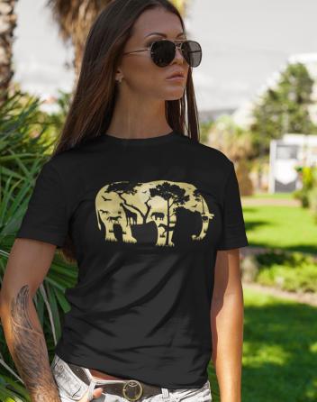 Dámské tričko - Elephant