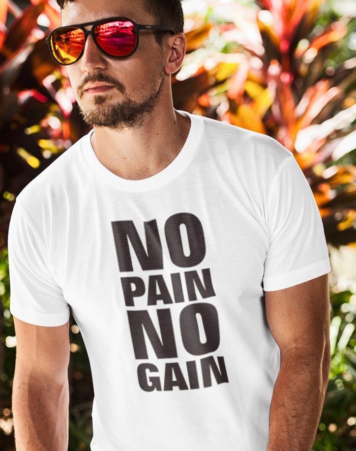 Pánské tričko - No pain no gain