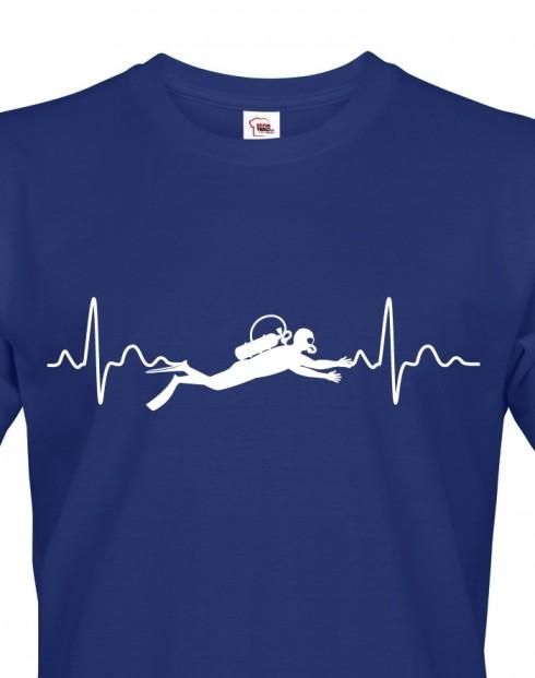 Pánské tričko - Tep potápěče