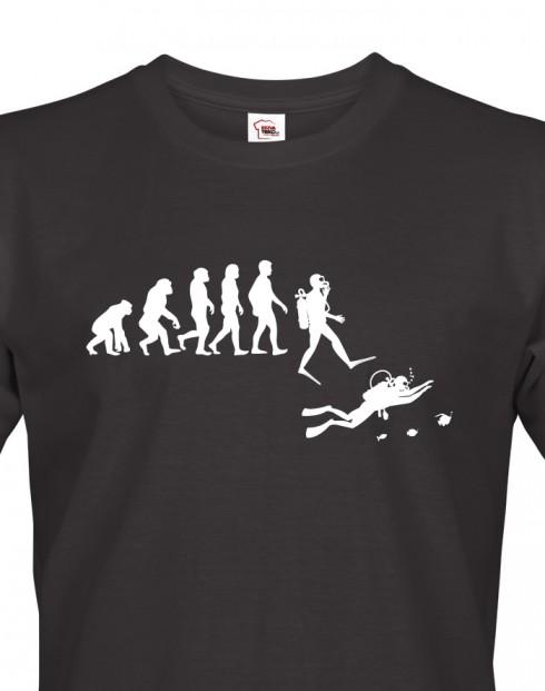 Pánské tričko - Evoluce potápění