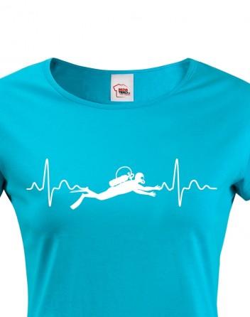 Dámské tričko - Tep potápěče