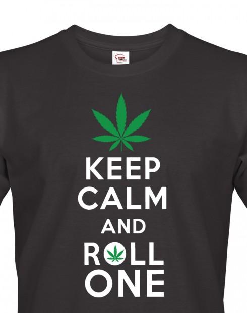 Pánské tričko - Keep calm and roll one