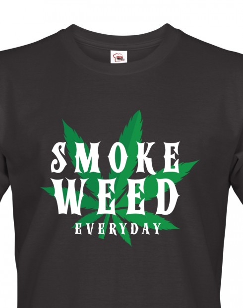 Pánské tričko - Smoke weed
