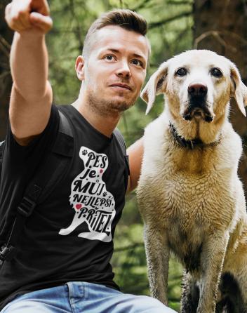 Pánské tričko -Pes je můj nejlepší přítel