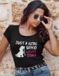 Dámské tričko -Just a girl who loves dogs
