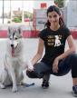 Dámské tričko -Štěstí má psí packy