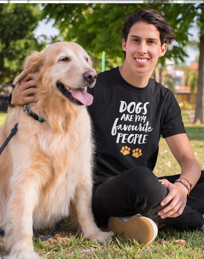 Pánské tričko -Dogs are my favourite people