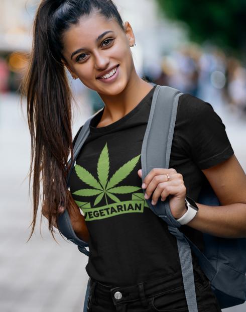 Dámské tričko - Weed vegetarian