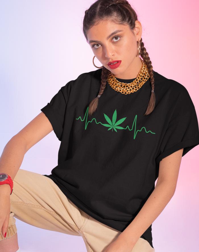 Dámské tričko - Pulz weed