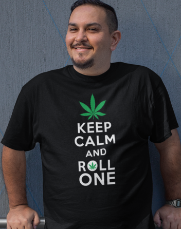 Pánské tričko - Keep calm and roll one