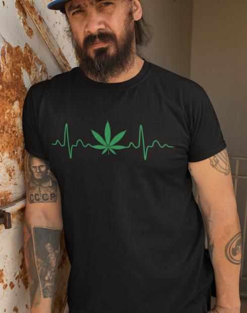 Pánské tričko - Pulz weed
