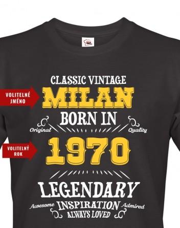 Pánské tričko k narozeninám Born in...
