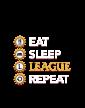 Pánské tričko - Eat sleep league repeat