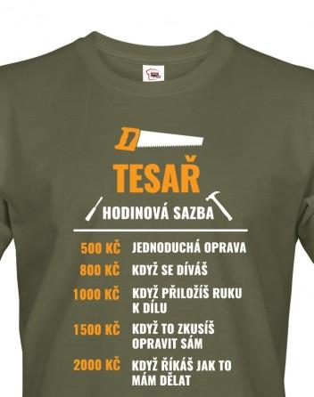 Pánské tričko Hodinová sazba tesaře