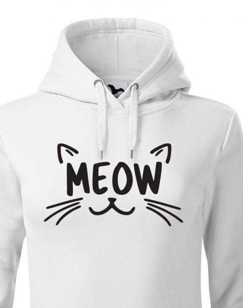 Dámská mikina s kočkou Meow