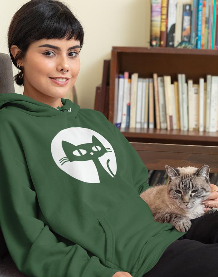 Dámská mikina s kočkou