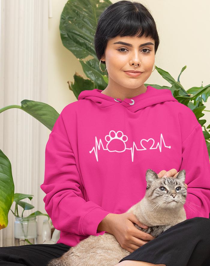 Dámská mikina tep kočky