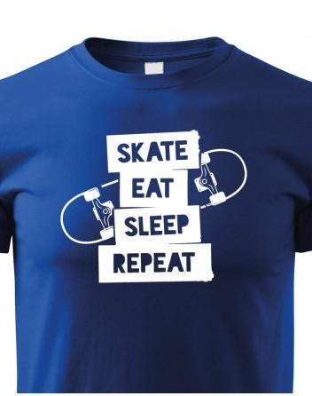 Dětské tričko Skate-eat-sleep-repeat