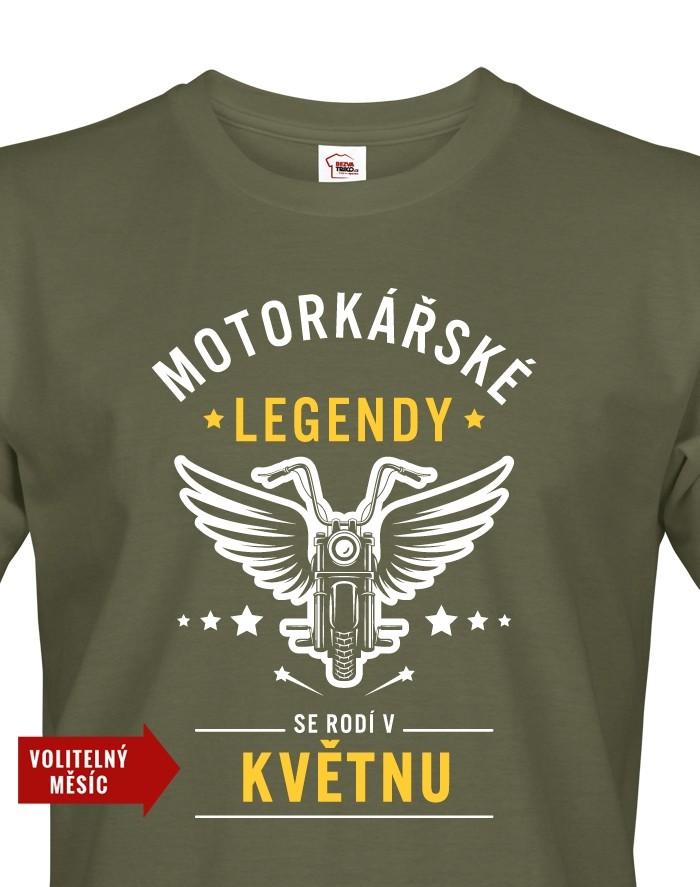 Pánské triko Motorkářské legendy - ideální dárek k narozeninám