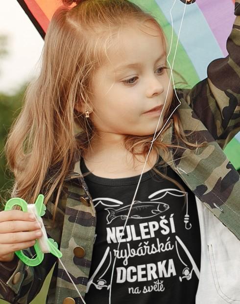 Dětské tričko Nejlepší rybářská dcerka na světě