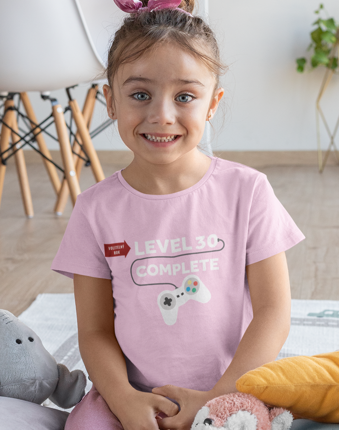 Dětské tričko k narozeninám - Level complete