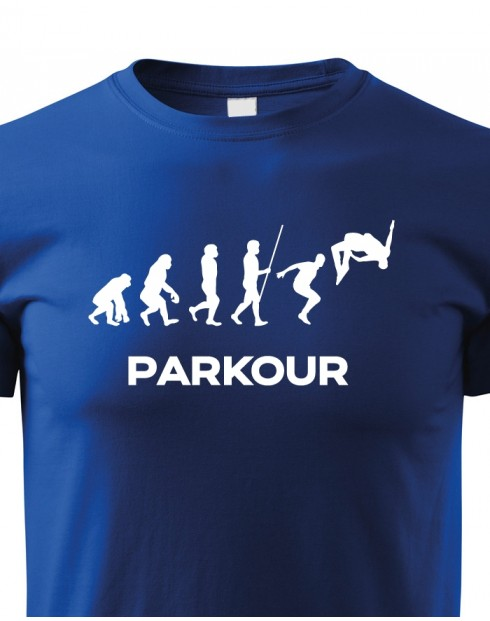 Dětské tričko - Parkour evoluce