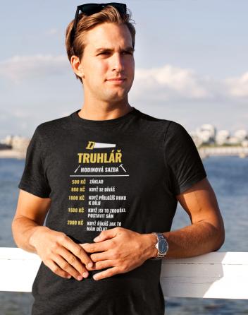 Pánské tričko - Hodinová sazba truhláře