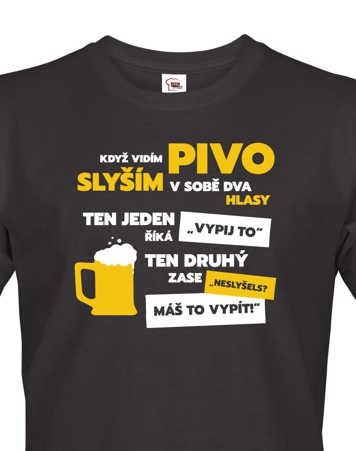Pánské tričko - Když vidím pivo