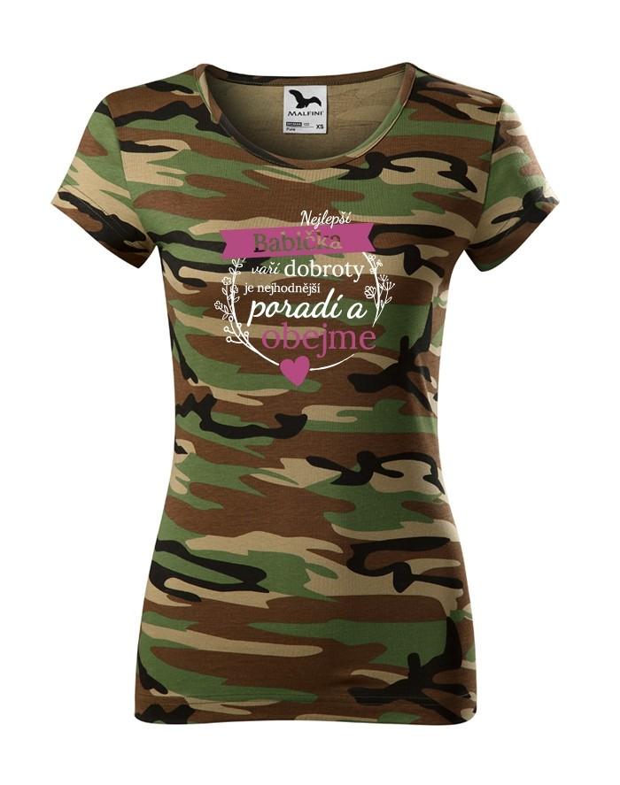 Dámské tričko nejlepší babička - ideální dárek k narozeninám pro babičku