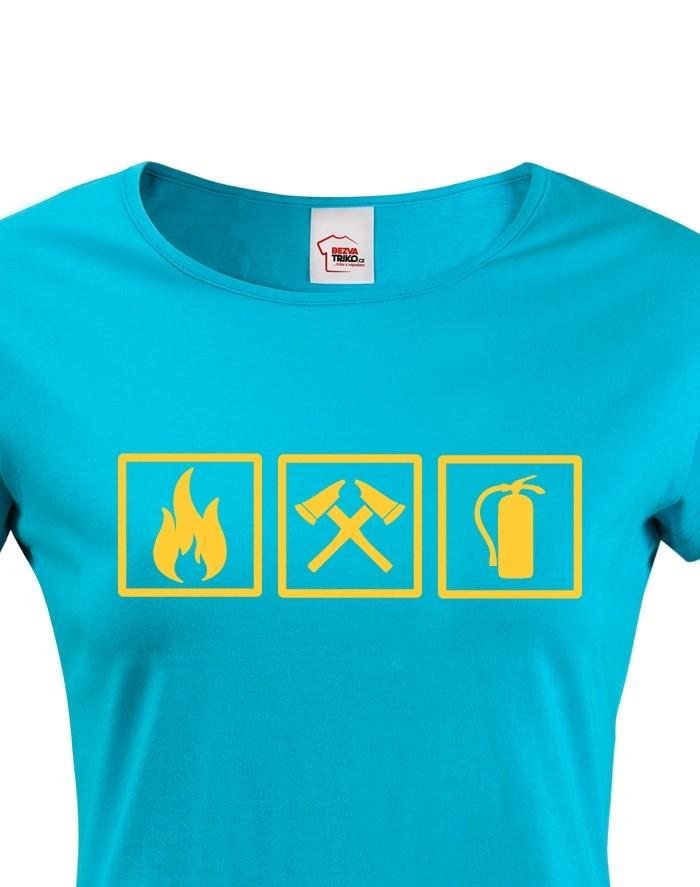 Dámské tričko - Požiarnik