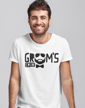 Pánské tričko na rozlučku Grooms crew