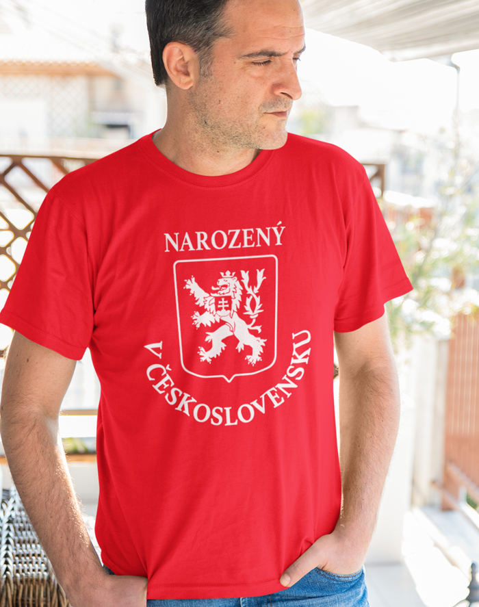 Pánské tričko Narozený v Československu