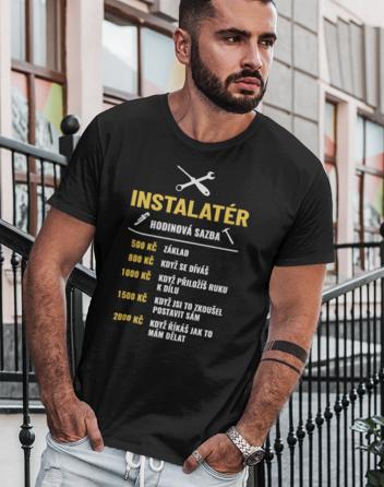 Pánské tričko - Hodinová sazba instalatér