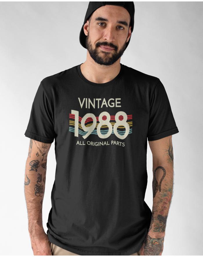 Pánské tričko k narozeninám - Vintage all original parts