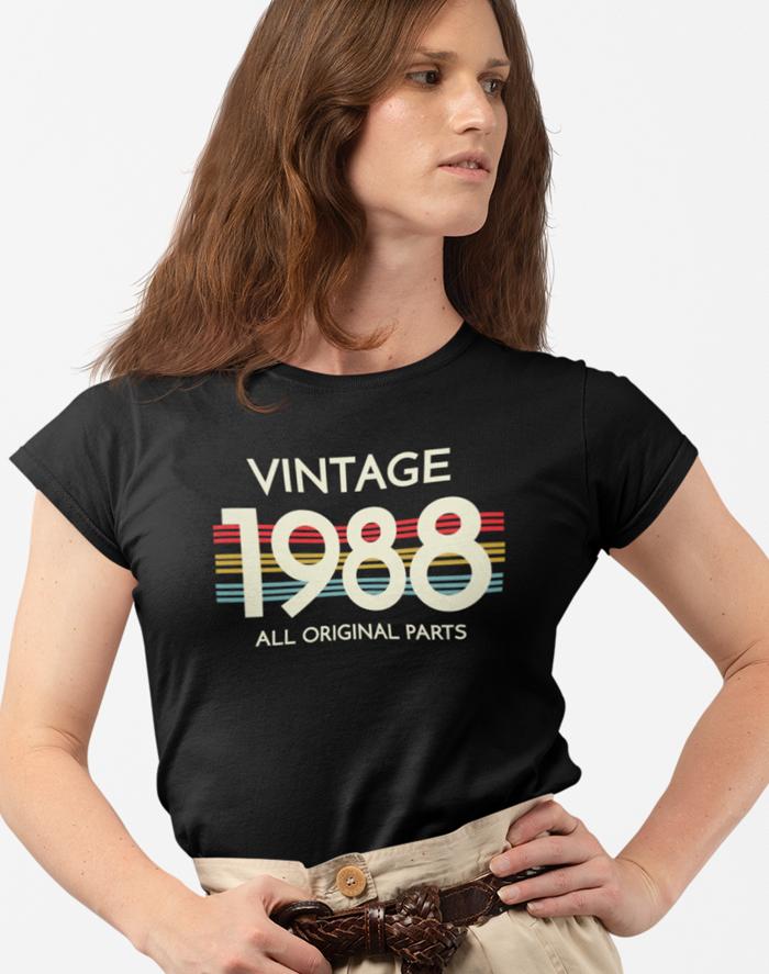 Dámské tričko k narozeninám - Vintage all original parts