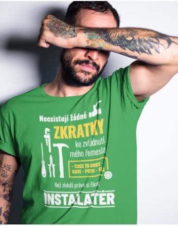 Pánské tričko pro instalatéra - Neexistují žádné zkratky