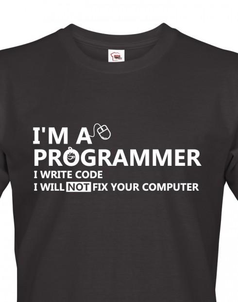 Pánské tričko - Jsem programátor