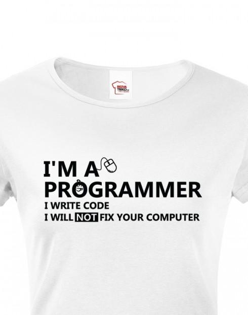 Dámské tričko - Jsem programátor