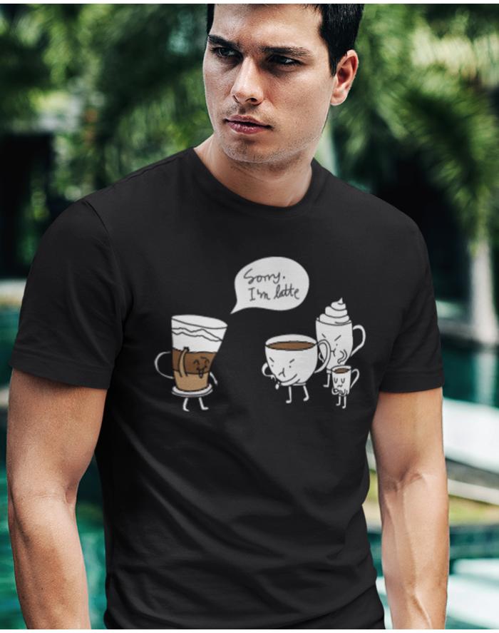 Pánské tričko - Sorry I am latte
