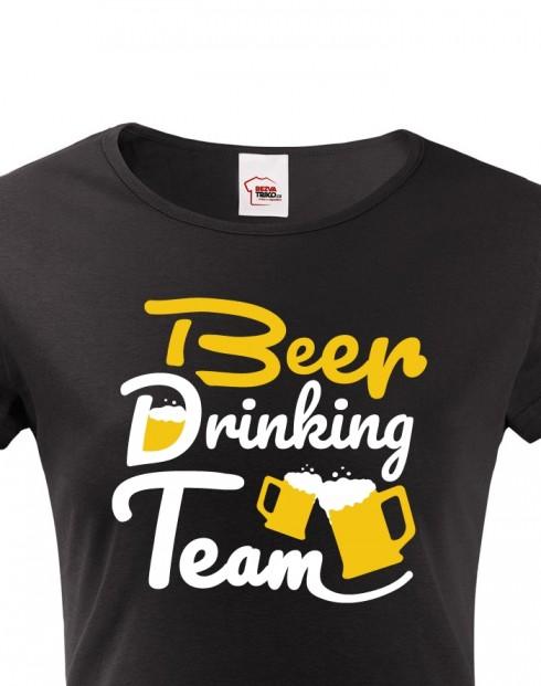 Dámské tričko - Beer drinking team