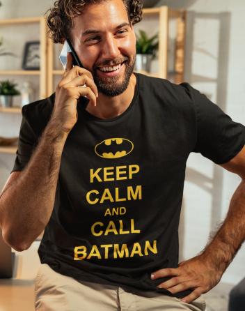Pánské tričko - Keep calm and call Batman