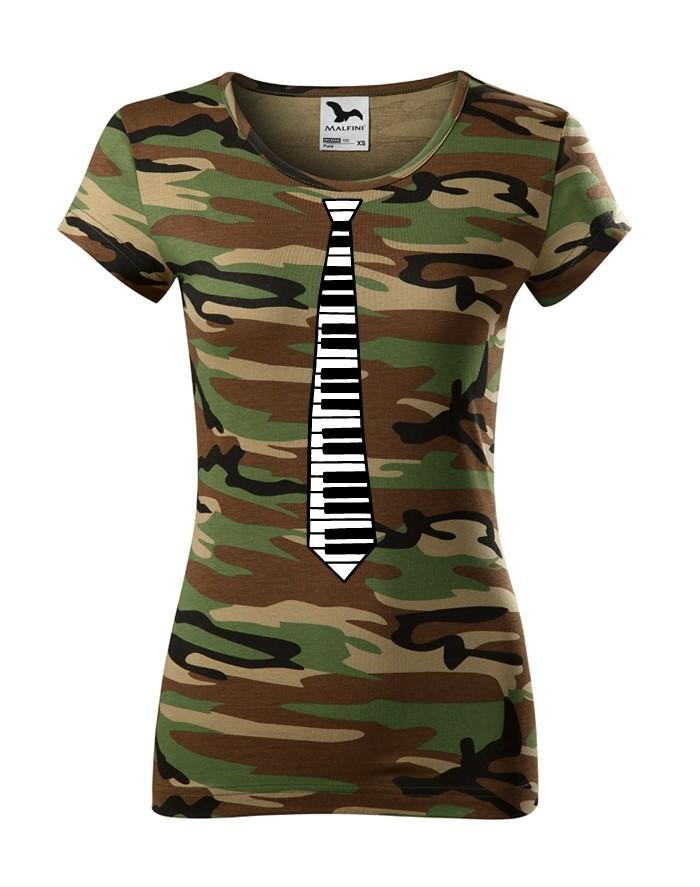 Levně Dámské tričko - Kravata klavír