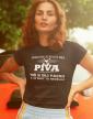 Dámské tričko s potiskem Život bez piva
