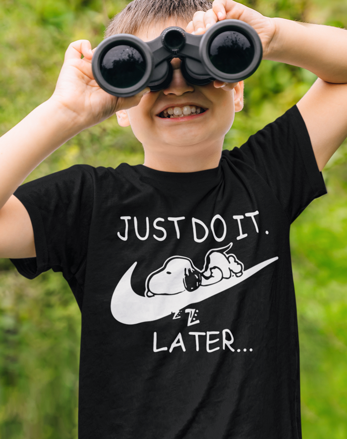 Dětské tričko s potiskem JUST DO IT TOMORROW