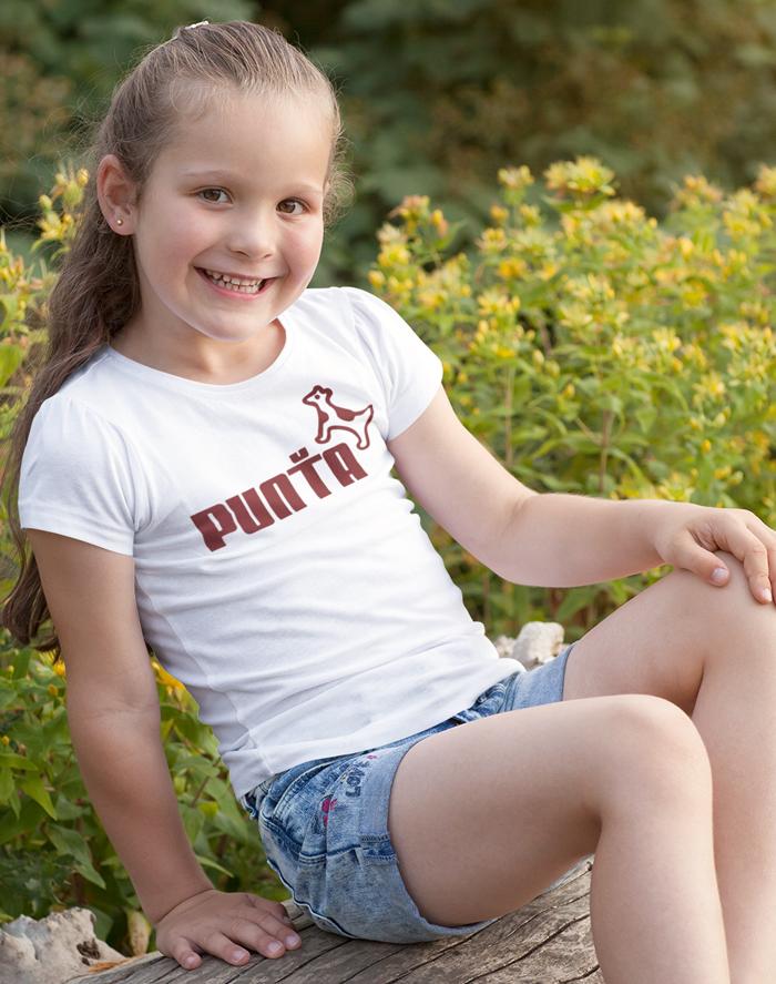 Dětské tričko s vtipným potiskem Punťa