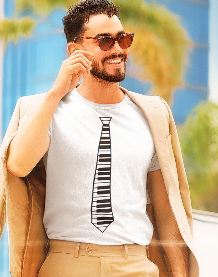 Pánské tričko - Klavír