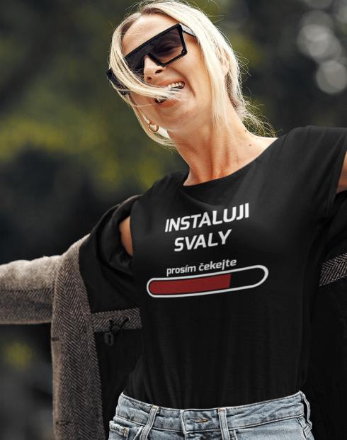 Dámské fitness tričko Instaluji svaly