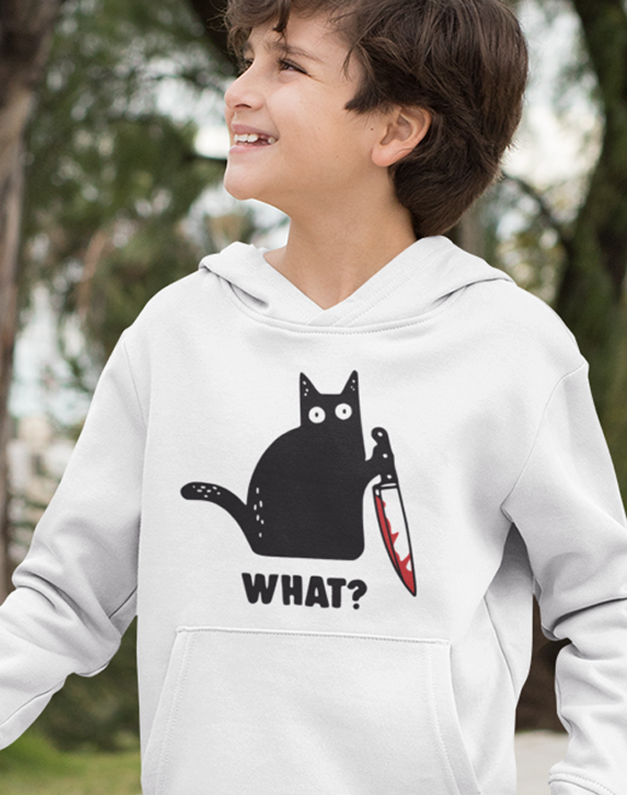 Dětská mikina s kočkou What